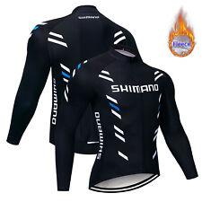 2019 Men's Fleece Cycling Jersey Long Sleeve Winter Thermal Bike Cycle Shirt Pro