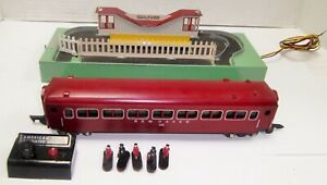 American Flyer 766 Guilford Animated Station w/ 735 Operating Car Working !
