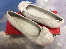 Pasitos Sarah White Leather Ballet Flats Size 35 / Women Size 5 / Youth Size 3.5
