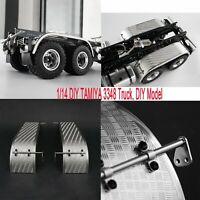 Metal Rear Fender A/B for LESU 1/14 Scale RC DIY TAMIYA 3348 Dumper Truck Car