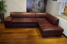 Weinrot Echtleder Ecksofa Couch mit Schlaffunktion Echtes Leder Eckcouch Sofa