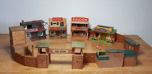 Wild West Western Fort Holz Fort 70er Gebäude Saloon Bank für Timpo Toys Vero 2