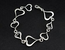 "Silpada Sterling Silver Spread the Love Hammered Bracelet 7.5""  B1701"