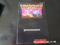 Firepower 2000 (SNES Super Nintendo) Instruction Manual Booklet Only... NO GAME