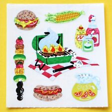 Stickeralbum Sticker Sandylion Vintage 90er Glitzer Prismatic Grill Picknick
