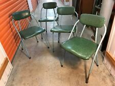 4 Vintage 1950's Australian Folding Metal & Vinyl Chairs