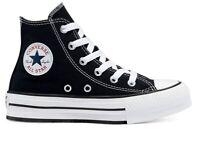 Scarpe bambina bambino Converse all star 671107C sneakers alte platform chuck
