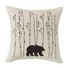 "Park Designs Bear & Birch Trees 16"" Pillow Cover"