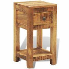 Massief houten bijzettafeltje met één lade mango-hout bijzettafel bijzet tafel