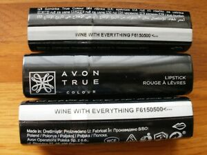WINE WITH EVERYTHING TRUE COLOUR LIPSTICK BY AVON X 3 BN