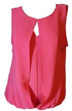 Blusa Camicia Casacca Donna Elegante Smanicata Organza Salmone LUISELLA MARIANI