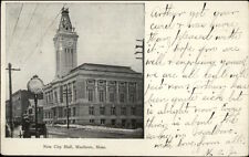 Marlboro MA New City Hall c1905 Postcard