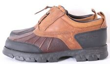Polo Sport RL AAW12620 Two-Tone Brown Leather Front Zip Duck Shoe Womens US 5.5B