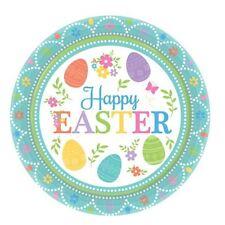 8 Happy Easter Joyful Egg Hunt Children's Party Small 17.8cm Paper Plates