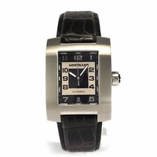 MONTBLANC PROFILE 8552 Automatic Men's Watch Black Leather Steel Mont Blanc rare
