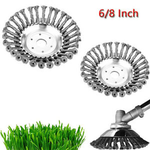 6/8 Inch Steel Wire Brush Cutter Trimmer Head Kit Weed Eater Head Rust Removal