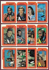 1983 Topps A Team Sticker Card Set of 12 Nrmt/Mt
