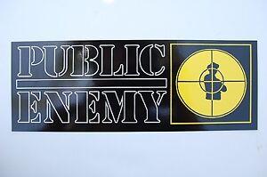 Public Enemy Sticker Decal (S222) Rap Hip Hop NWA Ice Cube Car Truck Window JDM