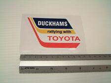 Duckhams Oil Toyota Sticker Decal Motorsport Rally Car retro Workshop tool Box