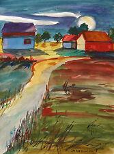 ORIGINAL MOON Landscape WATERCOLOR Painting JMW art John Williams Sale