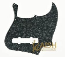 Black Pearl 5 String Jazz Bass Pickguard Scratch Plate fits USA/Mexican J Bass