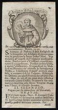 santino incisione 1700 S.ANTONIO DA PADOVA