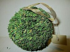 "Greenery Topiary Balls ~ Artificial 4"" Ball ~Outdoor /Indoor ~Set of 2 ~NEW"