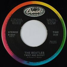 THE BEATLES: Twist and Shout / There's A Place CAPITOL Colorband B-5624 45 NM-
