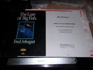 Fred Arbogast Bait of Champions 1996 tackle catalog & Dealer Price list insert