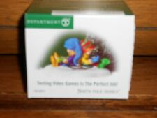 Dept 56 North Pole Village Accessory Testing Video Game Is The Perfect Job Nib