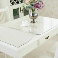 Waterproof PVC Tablecloth Table Clear Plastic Protector Cover 0.6
