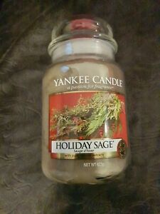 Yankee Candle Holiday Sage large jar (photos of candle shown)