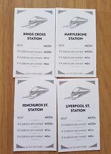 Monopoly Révolution Jeu Plateau de rechange remplacement train station cartes (3)