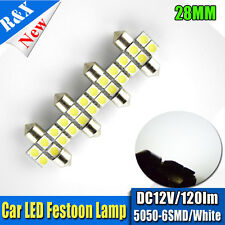 4X Festoon White 6-SMD LED 28mm 29mm Car Auto Interior Dome Map Light Lamp 3021