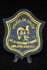South American Police Officers Patch Policia De Salta