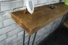 Hallway Handmade Rustic Timber Console Table Steel Hairpin Legs Industrial Style
