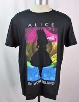 Alice in Wonderland Disney Silhouette Black T-Shirt Men Sizes S M L XL