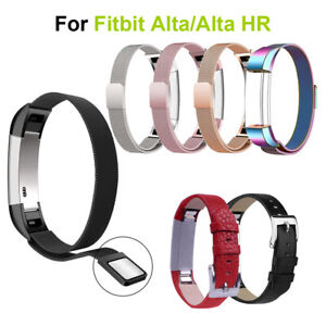 For Fitbit Alta&Alta HR Genuine Leather Magnetic Replace Watch Band Wrist Strap