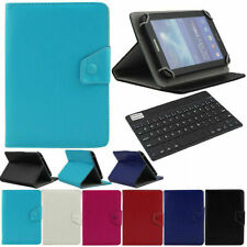 """LEATHER STAND COVER CASE + Wireless Keyboard For Various 7"""" 8"""" 7.0 RCA Tablet"""