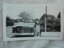 Vintage Car Photo Woman w/ 1954 Ford Convertible 825