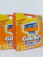 2 X 8 Gillette Fusion Power Rasierklingen 2 X 8=16 Stück) Original