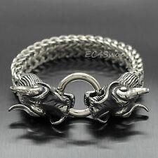 dae694fba70c9 gourmette homme dragon argent en vente | eBay