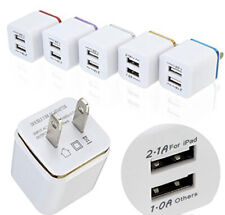 Dual USB Charging Cube Wall Charger Power Adapter For iPhone Samsung Android