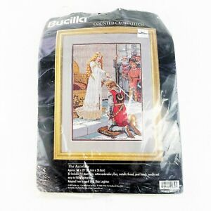 Bucilla THE ACCOLADE Counted Cross Stitch Kit 41650 Complete Opened 1997 Vintage