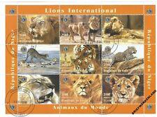 Kleinbogen Niger 1998  Wildkatzen , Tiger , Löwe