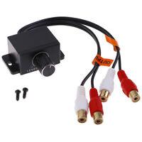 Car Home Audio Amplifier Bass RCA Gain Level Volume Control Knob  3C