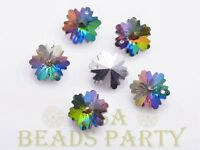 New 10pcs 14X7mm Snowflake Faceted Glass Pendant Loose Spacer Beads Colorful