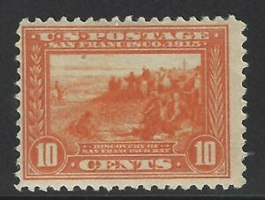 US 400A 10c PANAMA-PACIFIC EXPO LH F-VF FRESH & RICH COLOR! CV $175.00