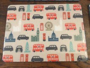 6 Gisela Graham London theme Plate Table-mats Place-mats 29 x22cm New Free Post