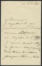 Henry FANTIN-LATOUR (Artist): Autograph Letter